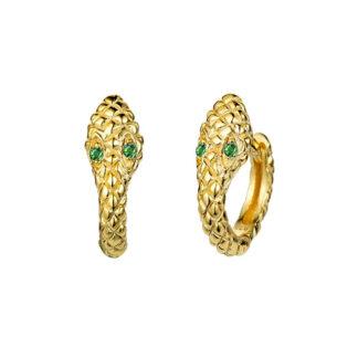 pendientes serpiente dorados