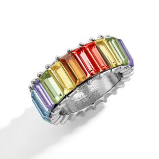 Anillo cristal Cristina multicolor