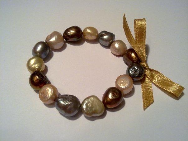 fa06c2220488 Pulseras de cuero y perlas cultivadas - Viroc