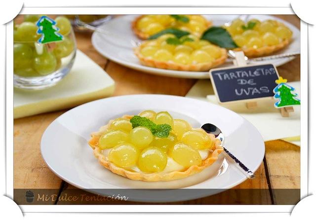 Tartaletas de Crema con Uvas