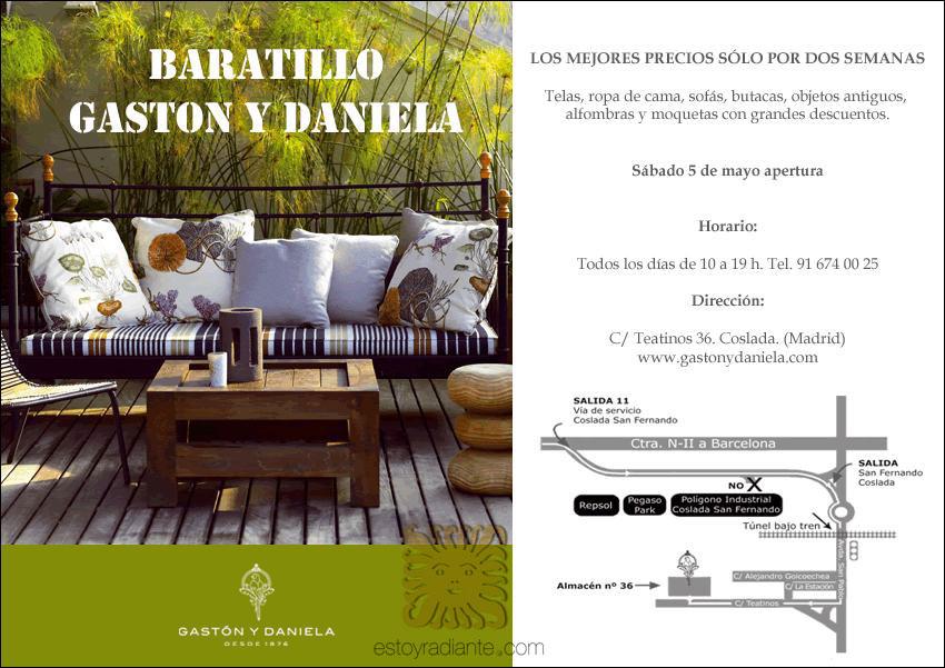 Baratillo de gast n y daniela mayo 2012 for Gaston y daniela telas
