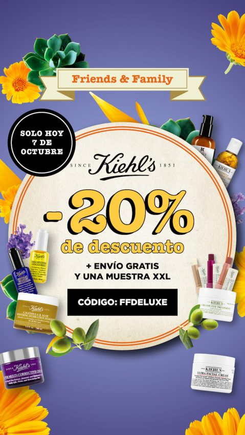 kiehls friends and family descuento 2017