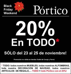 black friday portico españa