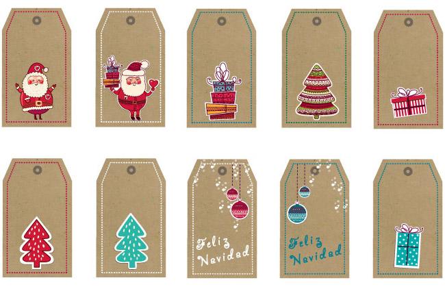 Tarjetas para los regalos imprimibles - Tarjetas de navidad faciles ...