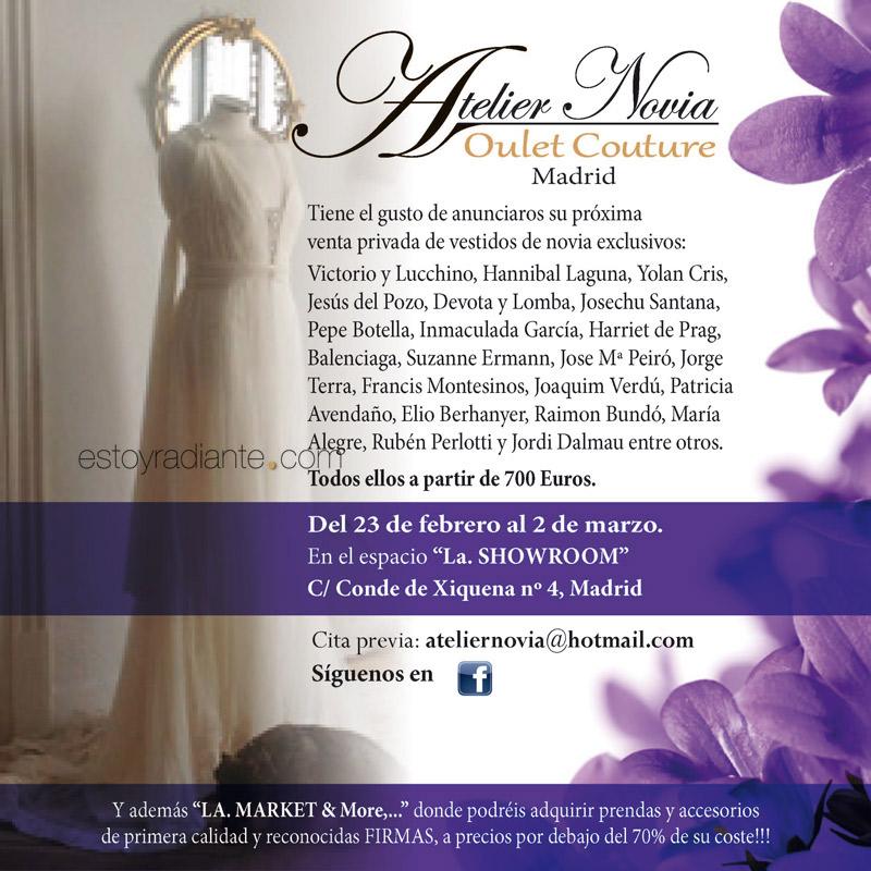 Venta especial de trajes de novia