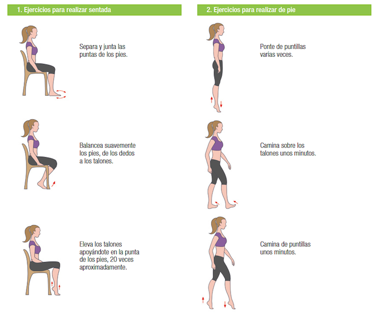 ejercicios para piernas cansadas