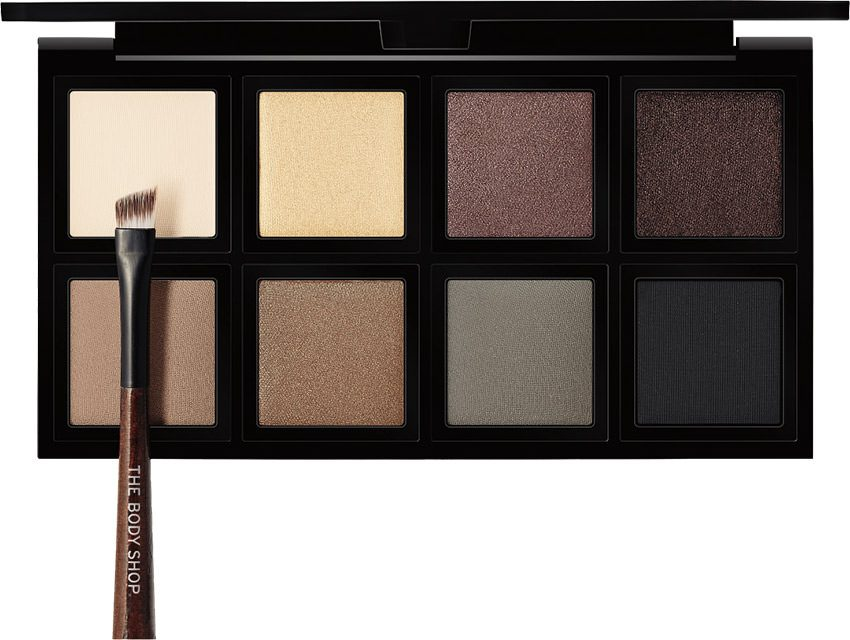 paleta sombras ojos marron the body shop