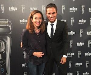 Julio Iglesias Jr y Carla Pereyra embajadores Braun