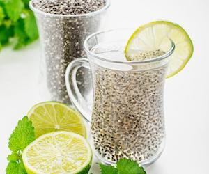 semillas de chia con limón