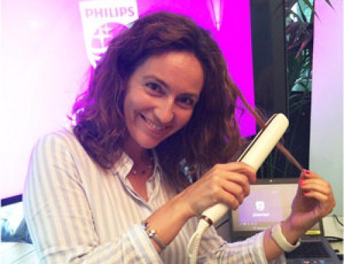 Plancha de pelo Nutri Wonder de Philips con aceites en las placas
