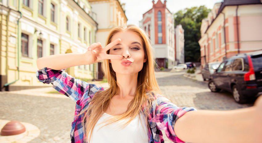 selfie mujer