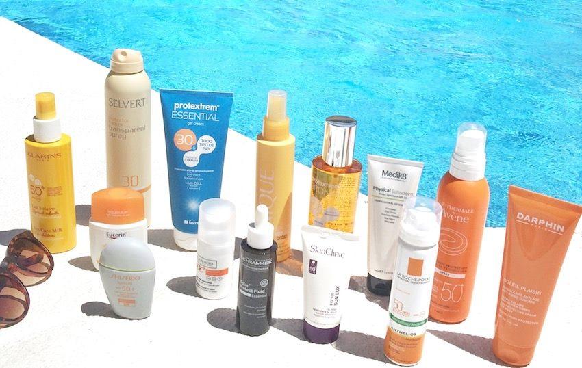 cremas solares piscina o playa