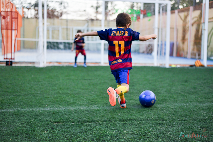 cumpleaños futbol infantil
