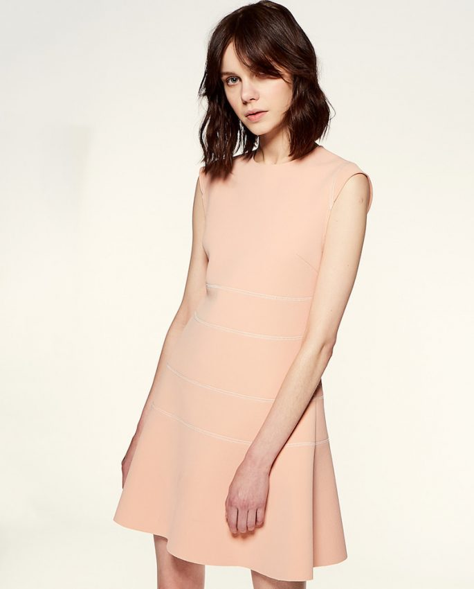 sfera vestido rosa mujer corto