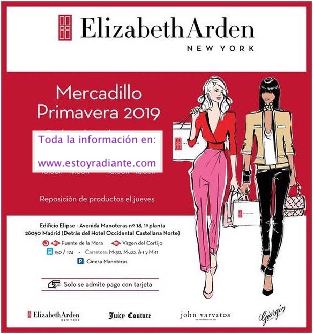Mercadillo Elizabeth Arden Madrid 2019