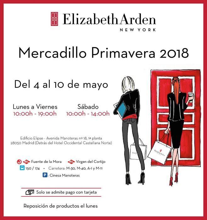 Mercadillo de Primavera de Elizabeth Arden mayo 2018