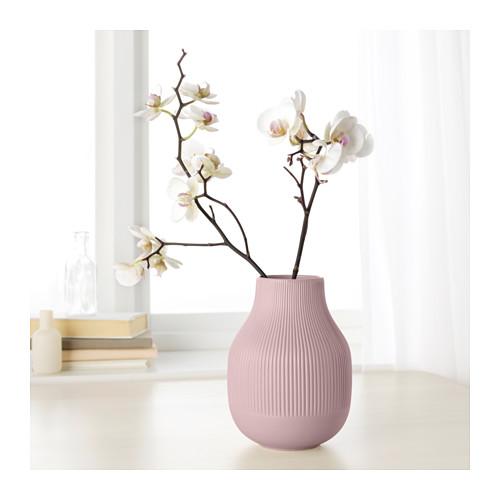 florero rosa ikea