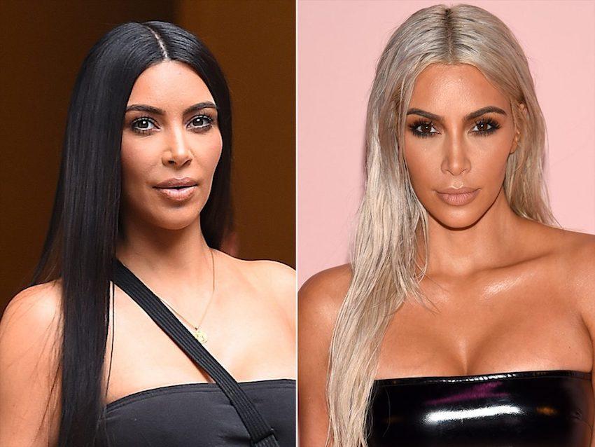 Kim Kardashian cabello color