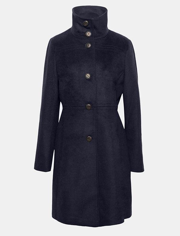 esprit abrigo lana azul