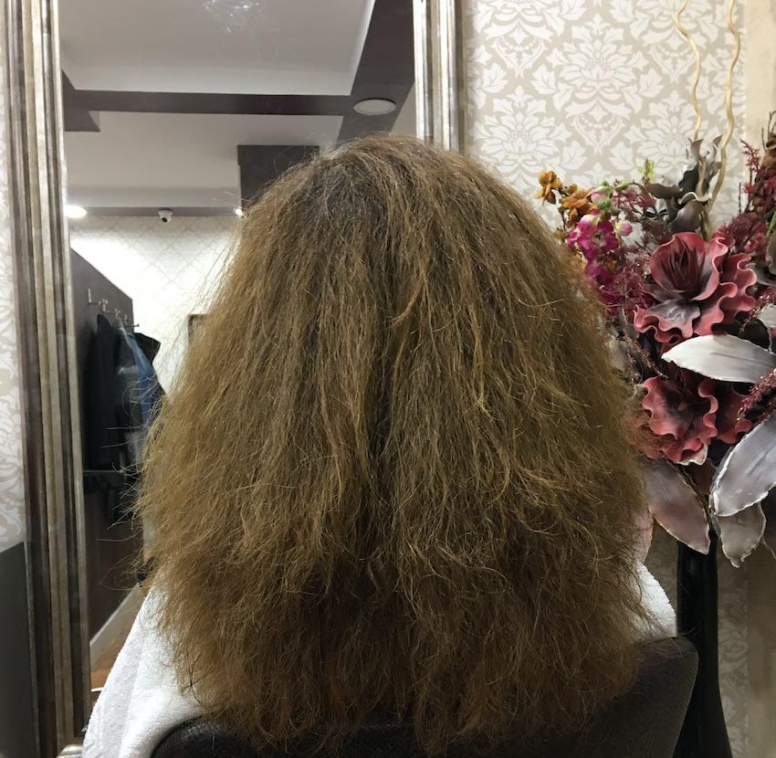 pelo estropeado alisado brasileño