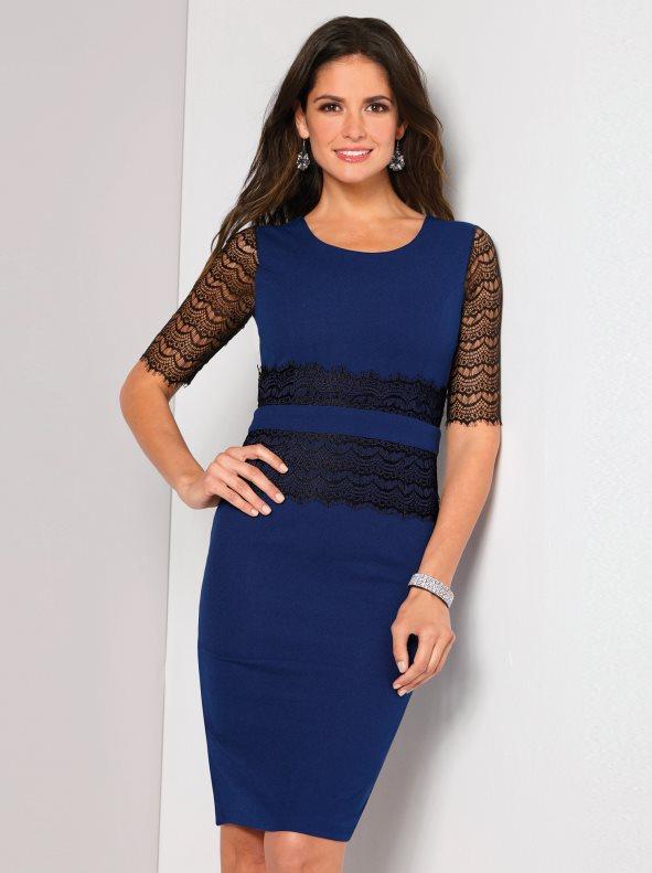 vestido de fiesta azul corto