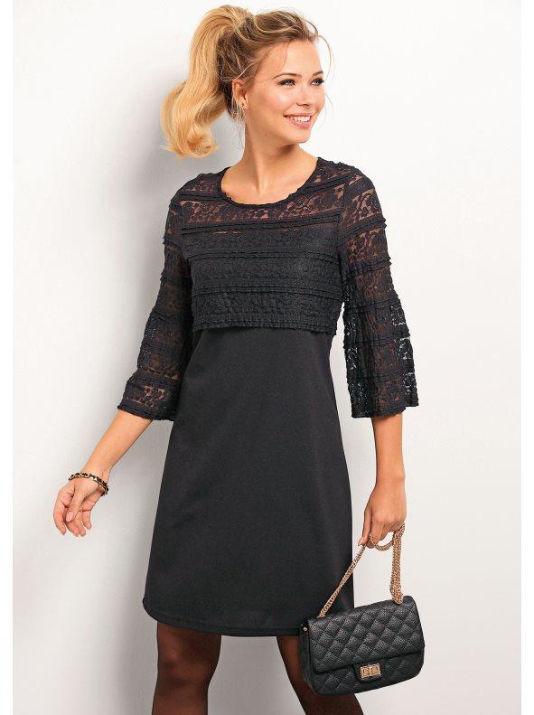 vestido de fiesta encaje negro