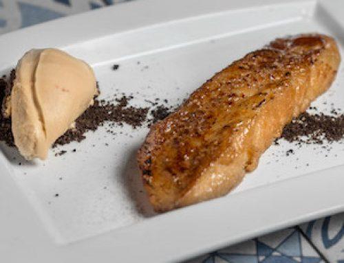 Receta de Torrija de Baileys con helado de galleta