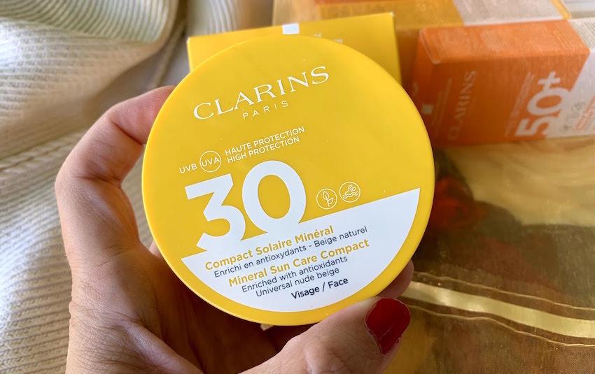Clarins compacto solar