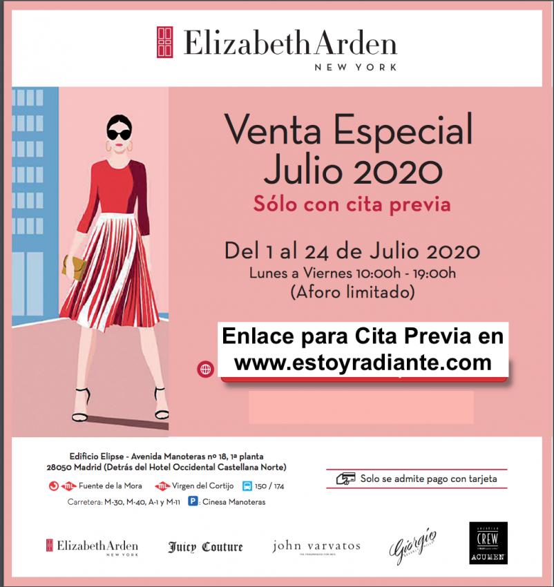 Venta especial Elizabeth Arden 2020