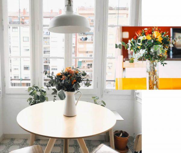 flores decorar hogar