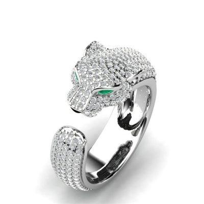 anillo leopardo ojos cristal