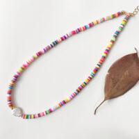 collar colores y perla
